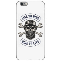 Live to ride, Motorcycles, Skull iPhone 6/6s Case | Artistshot