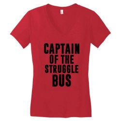 CAPTAIN OF THE STRUGGLE BUS | Funny quotes Women's V-Neck T-Shirt | Artistshot