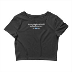 never underestimate a greek woman funny Crop Top | Artistshot