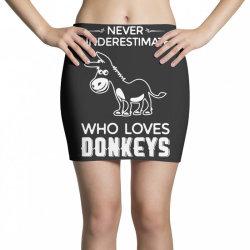 never underestimate who loves donkeys funny Mini Skirts | Artistshot