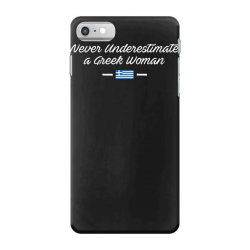 never underestimate a greek woman funny iPhone 7 Case | Artistshot
