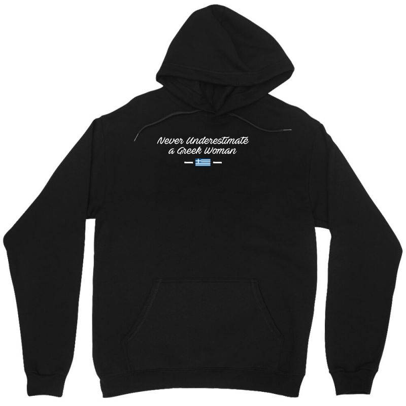 Never Underestimate A Greek Woman Funny Unisex Hoodie | Artistshot