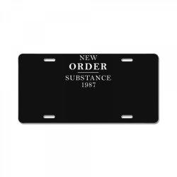 new order substance 1987 funny License Plate | Artistshot