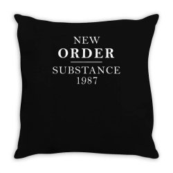 new order substance 1987 funny Throw Pillow | Artistshot