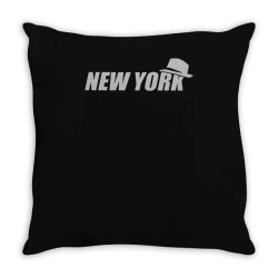 new york funny Throw Pillow | Artistshot