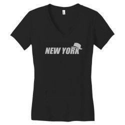 new york funny Women's V-Neck T-Shirt | Artistshot