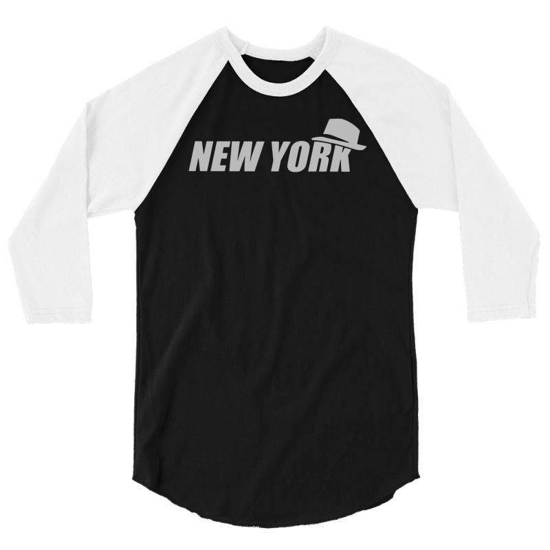 New York Funny 3/4 Sleeve Shirt   Artistshot