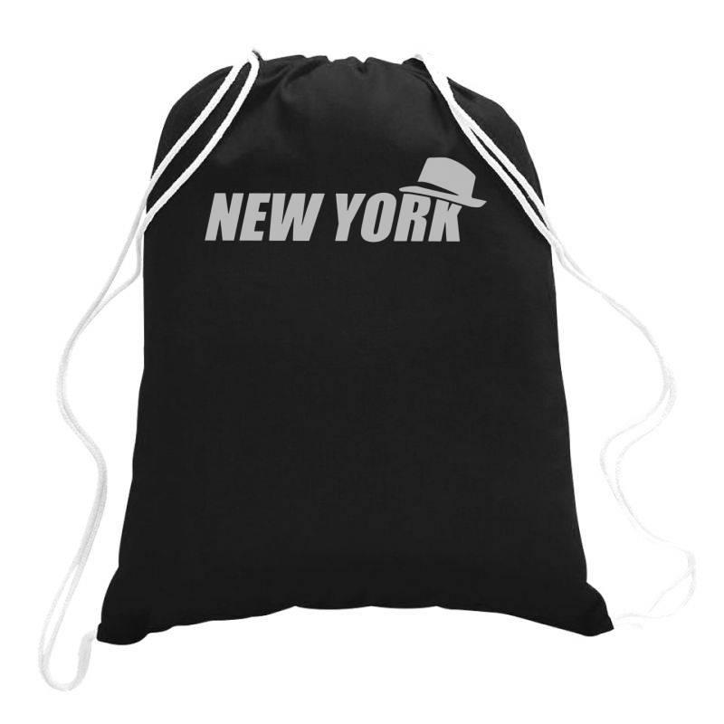 New York Funny Drawstring Bags   Artistshot
