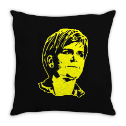 nicola sturgeon 3 Throw Pillow | Artistshot