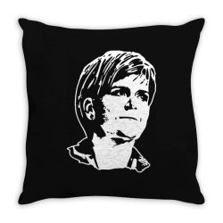 nicola sturgeon Throw Pillow | Artistshot