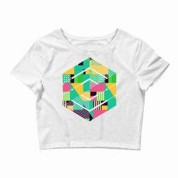 geometric abstract Crop Top | Artistshot