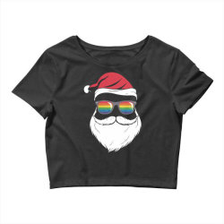gay santa glasses Crop Top | Artistshot