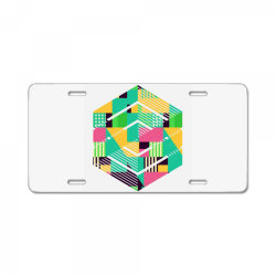 geometric abstract License Plate | Artistshot