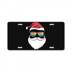 gay santa glasses License Plate | Artistshot