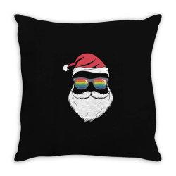 gay santa glasses Throw Pillow | Artistshot