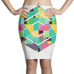 geometric abstract Pencil Skirts | Artistshot