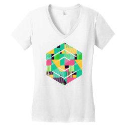geometric abstract Women's V-Neck T-Shirt | Artistshot