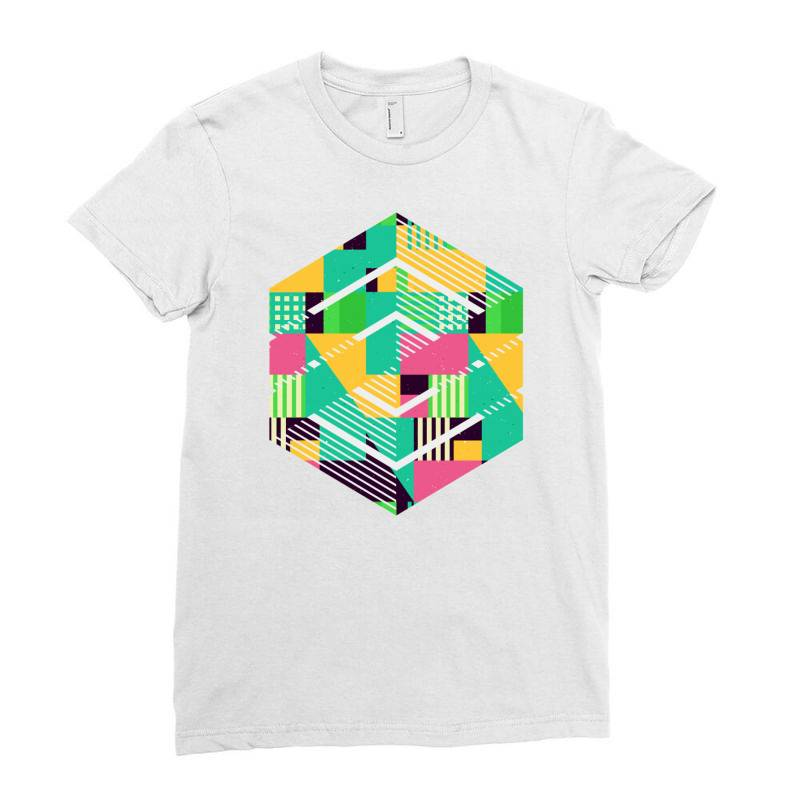Geometric Abstract Ladies Fitted T-shirt | Artistshot