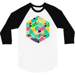 geometric abstract 3/4 Sleeve Shirt | Artistshot