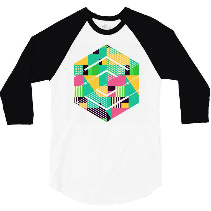 Geometric Abstract 3/4 Sleeve Shirt | Artistshot