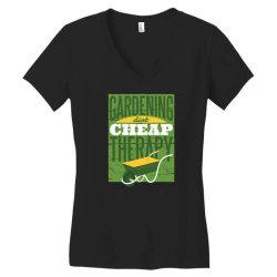 gardening therapy Women's V-Neck T-Shirt | Artistshot