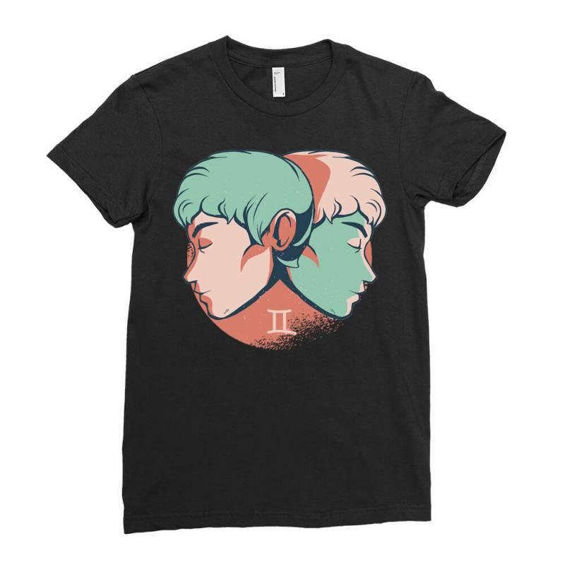 Gemini Horoscope Ladies Fitted T-shirt   Artistshot