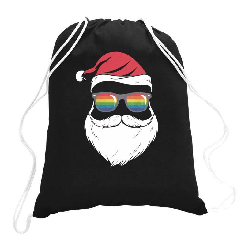 Gay Santa Glasses Drawstring Bags | Artistshot