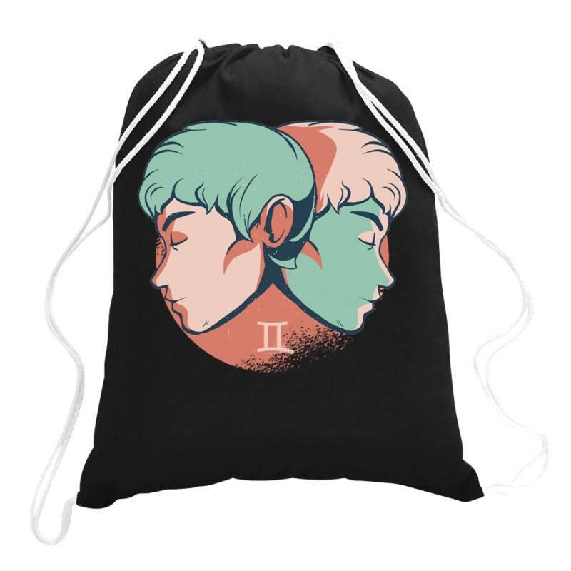 Gemini Horoscope Drawstring Bags   Artistshot