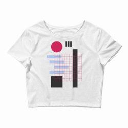 geometric mesh Crop Top | Artistshot