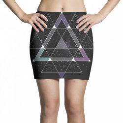 geometric space Mini Skirts   Artistshot