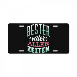 german best father License Plate | Artistshot
