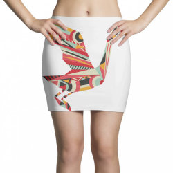 geometric shapes bird Mini Skirts | Artistshot