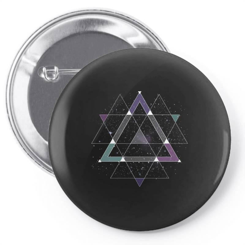 Geometric Space Pin-back Button | Artistshot