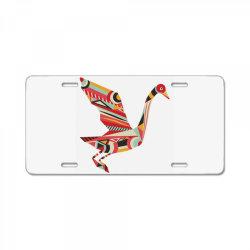 geometric shapes bird License Plate   Artistshot