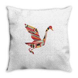 geometric shapes bird Throw Pillow   Artistshot