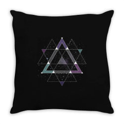 geometric space Throw Pillow | Artistshot