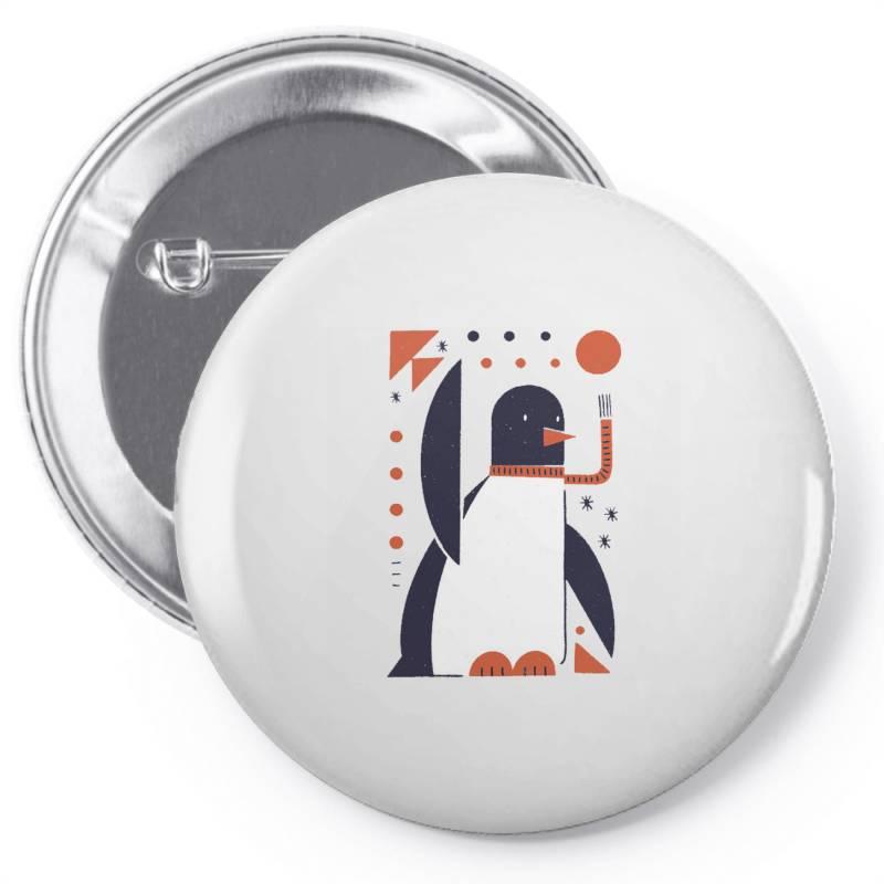 Geometric Penguin Pin-back Button | Artistshot