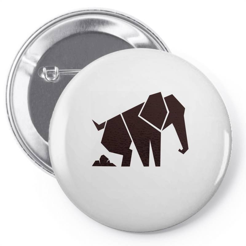 Geometric Elephant Pin-back Button | Artistshot