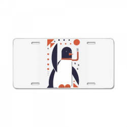 geometric penguin License Plate | Artistshot