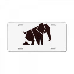 geometric elephant License Plate | Artistshot