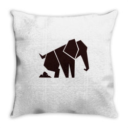 geometric elephant Throw Pillow | Artistshot