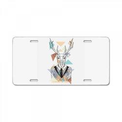 geometric deer License Plate   Artistshot