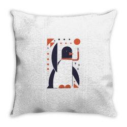 geometric penguin Throw Pillow | Artistshot