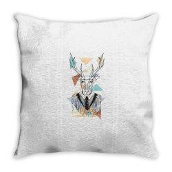 geometric deer Throw Pillow   Artistshot