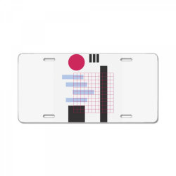 geometric mesh License Plate | Artistshot