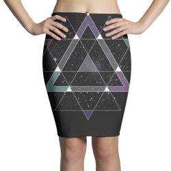 geometric space Pencil Skirts   Artistshot