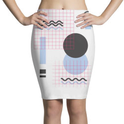 geometric shapes Pencil Skirts | Artistshot