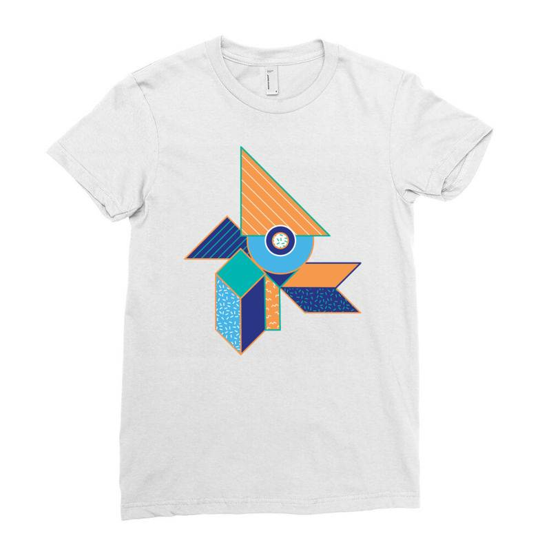 Geometrical Ladies Fitted T-shirt | Artistshot