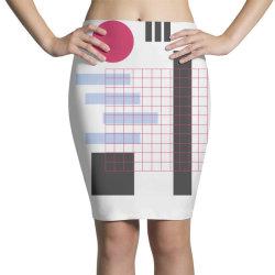 geometric mesh Pencil Skirts | Artistshot