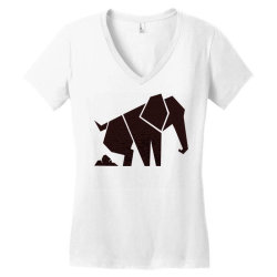 geometric elephant Women's V-Neck T-Shirt | Artistshot